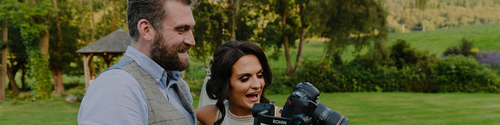 Wedding video being filmed at North Wales venue